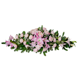 Suza od cveća u ružičastim tonovima