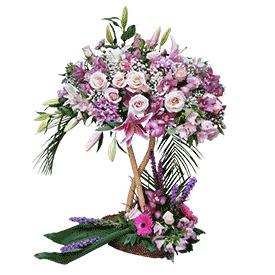 cvetni aranžman ruže ljiljan
