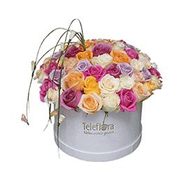 Mirisna 101 ruža u kutiji