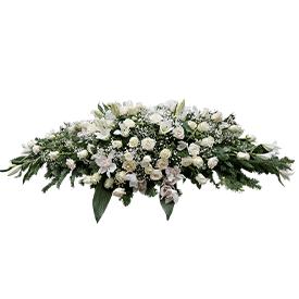 Suza za kovčeg od belog cveća
